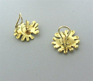 thumbnail image of Funky Vintage Tiffany & Co 18K Yellow Gold Earrings