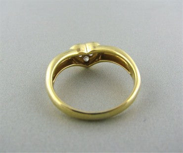 thumbnail image of Tiffany & Co 18K Gold Diamond Heart Ring