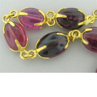 thumbnail image of New Gurhan 24k Gold Pink Tourmaline Necklace
