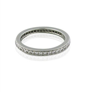 image of Tiffany & Co Legacy Platinum Diamond Eternity Wedding Band Ring