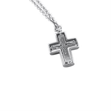 image of Paul Morelli Platinum Diamond Cross Necklace