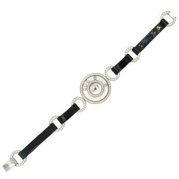 thumbnail image of Chopard Lady's 18k Gold Diamond Mother of Pearl Dial Quartz Wristwat