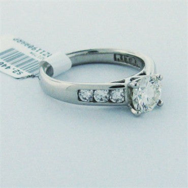 thumbnail image of EGL Cert Ritani 1.00ct Diamond Platinum Engagement Ring