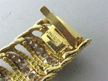 image of Hammerman Brothers 18K Yellow Gold 5.50ctw Diamond Wide Bracelet