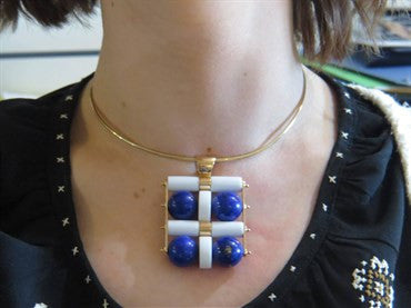 thumbnail image of Large Giorgio Facchini Lapis Lazuli Rose Gold Kinetic Pendant