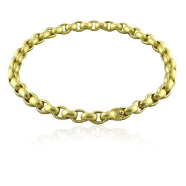 image of Tiffany & Co Paloma Picasso 18k Hammered Gold Necklace