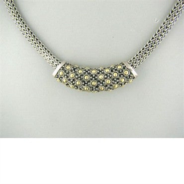 thumbnail image of John Hardy Sterling Silver 18k Gold Slide Necklace