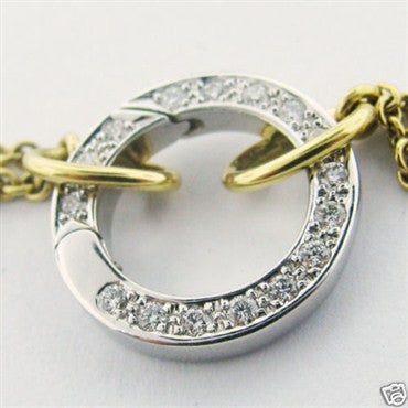 thumbnail image of Faberge 18k Gold Diamond 3 Egg Drop Necklace