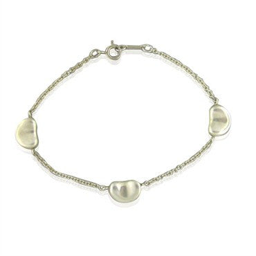 image of Estate Tiffany & Co Elsa Peretti Bean Sterling Silver Bracelet