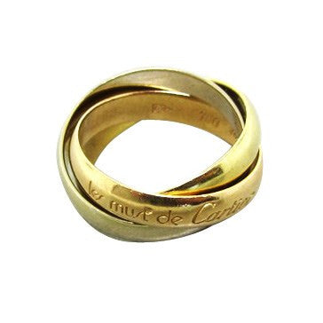 Cartier Trinity Lest Must De Cartier 18K Gold Rolling Band Ring 46