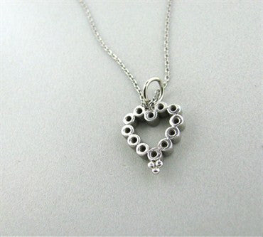 thumbnail image of Temple St. Clair Platinum Diamond Heart Pendant Necklace