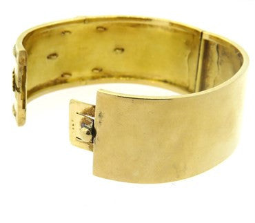 image of Antique Victorian Diamond Gold Bangle Bracelet