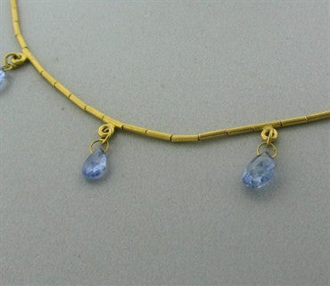 image of Gurhan 24K Yellow Gold Sapphire Briolette Necklace
