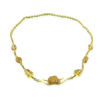 image of New Paul Morelli 18k Gold Citrine Necklace