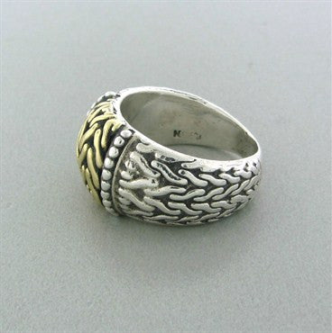 image of John Hardy Sterling Silver 18K Yellow Gold Ring