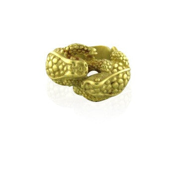 image of Estate Kieselstein Cord 18k Gold Dual Frog Ring