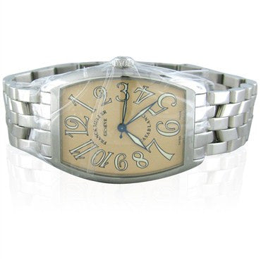 image of Franck Muller Casablanca 2852 Stainless Steel Salmon Dial Mens Watch