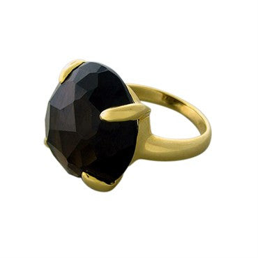 image of New Ippolita 18K Yellow Gold Smokey Quartz Ring