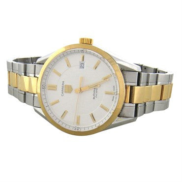 thumbnail image of Tag Heuer Carrera 18k Gold Stainless Steel Automatic Mens Watch WV215A