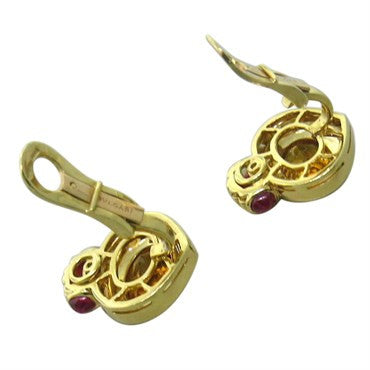 thumbnail image of Bulgari Bvlgari Citrine Ruby Gold Earrings