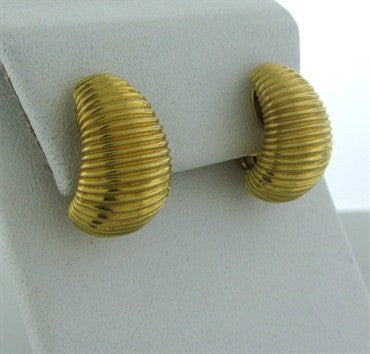 thumbnail image of Vintage Tiffany & Co 18K Yellow Gold Earrings