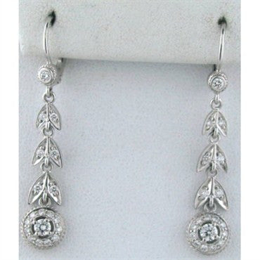 thumbnail image of Estate Penny Preville 18k Gold Diamond Drop Earrings