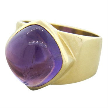 image of Gumps Amethyst Gold Ring
