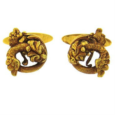 thumbnail image of Antique Continental 18k Gold Cufflinks