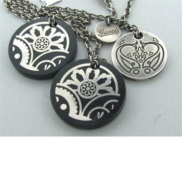 thumbnail image of Estate Gucci Wood Sterling Silver Necklace