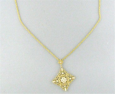 thumbnail image of Gabriel & Co 18K Yellow Gold Diamond Pendant Necklace