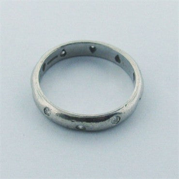 thumbnail image of Estate Tiffany & Co Etoile Platinum Diamond Band Ring
