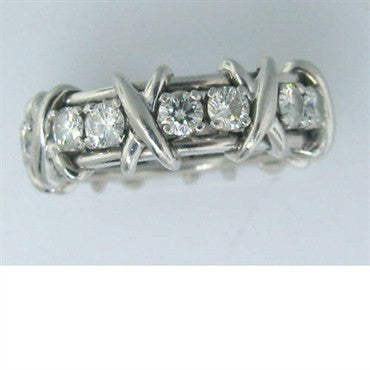 thumbnail image of Tiffany & Co Sixteen Stone Schlumberger Diamond Ring