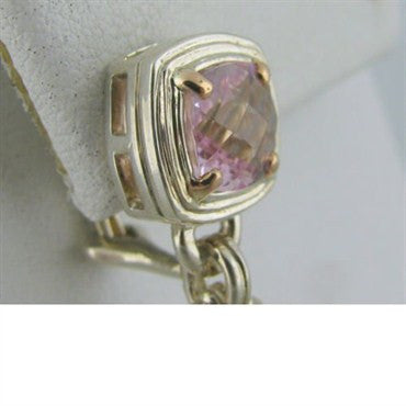 thumbnail image of Krypell Sterling 18k Gold Pink Topaz Earrings
