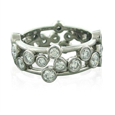 image of Tiffany & Co Bubbles Platinum 1.60ctw Diamond Band Ring