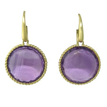 image of Roberto Coin Ipanema Amethyst Earrings