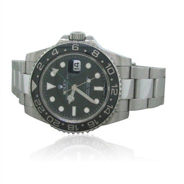 thumbnail image of Rolex GMT Master II Ceramic Dial Mens Watch Box Papers Ref. 11671ON