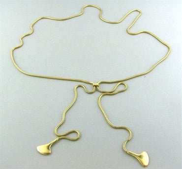 thumbnail image of Vintage Tiffany & Co 18K Yellow Gold Wrap Necklace