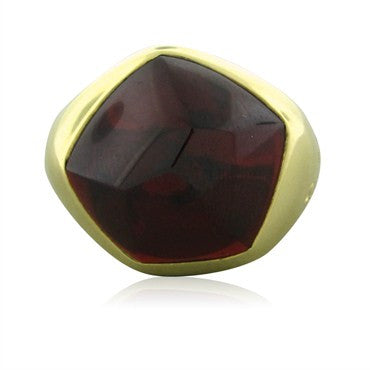 Estate Pomellato 18K Yellow Gold Garnet Ring