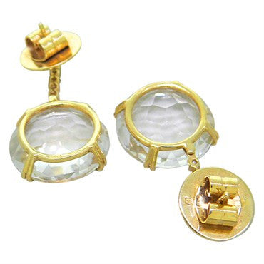 image of H. Stern Cobblestone 18k Gold Diamond Crystal Drop Earrings
