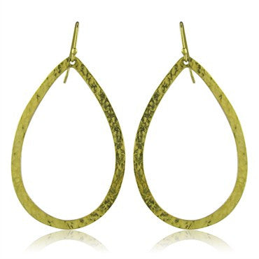 thumbnail image of Ippolita 18K Gold Hammered Finish Drop Earrings