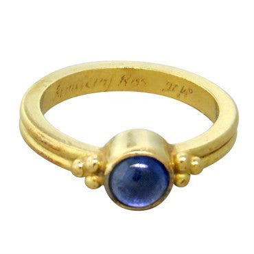 image of Reinstein Ross 20k Gold Sapphire Cabochon Ring