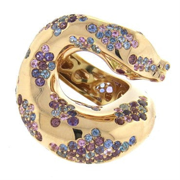 thumbnail image of Impressive Pasquale Bruni Il Peccato Sapphire Ruby Gold Snake Ring