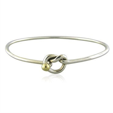 thumbnail image of Tiffany & Co. Sterling Silver 18K Gold Knot Motif Bracelet