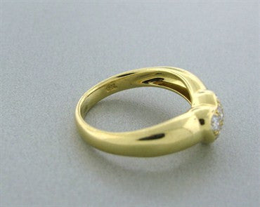 image of Tiffany & Co 18k Yellow Gold Diamond Heart Ring