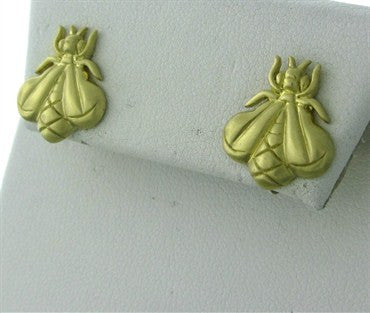 thumbnail image of Slane & Slane 18K Yellow Gold Bee Free Earrings