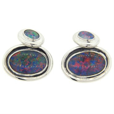 image of Opal Gold Oval Cufflinks