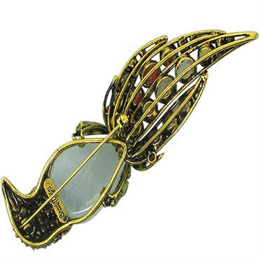 thumbnail image of Estate Iradj Moini Colored Stone Bird Brooch