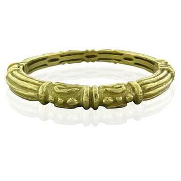 image of Estate Katy Briscoe 18K Yellow Gold Bangle Bracelet