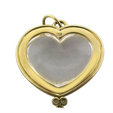 thumbnail image of Estate Temple St. Clair 18K Yellow Gold Diamond Crystal Heart Pendant