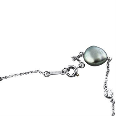 thumbnail image of Tiffany & Co Elsa Peretti Platinum Keshi Pearl Diamond Bracelet